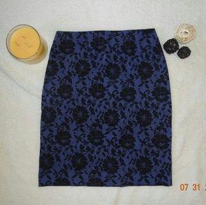 Express Purple Lace Print Skirt